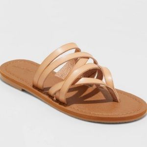 Universal Thread Vegan Leather Strappy Sandals
